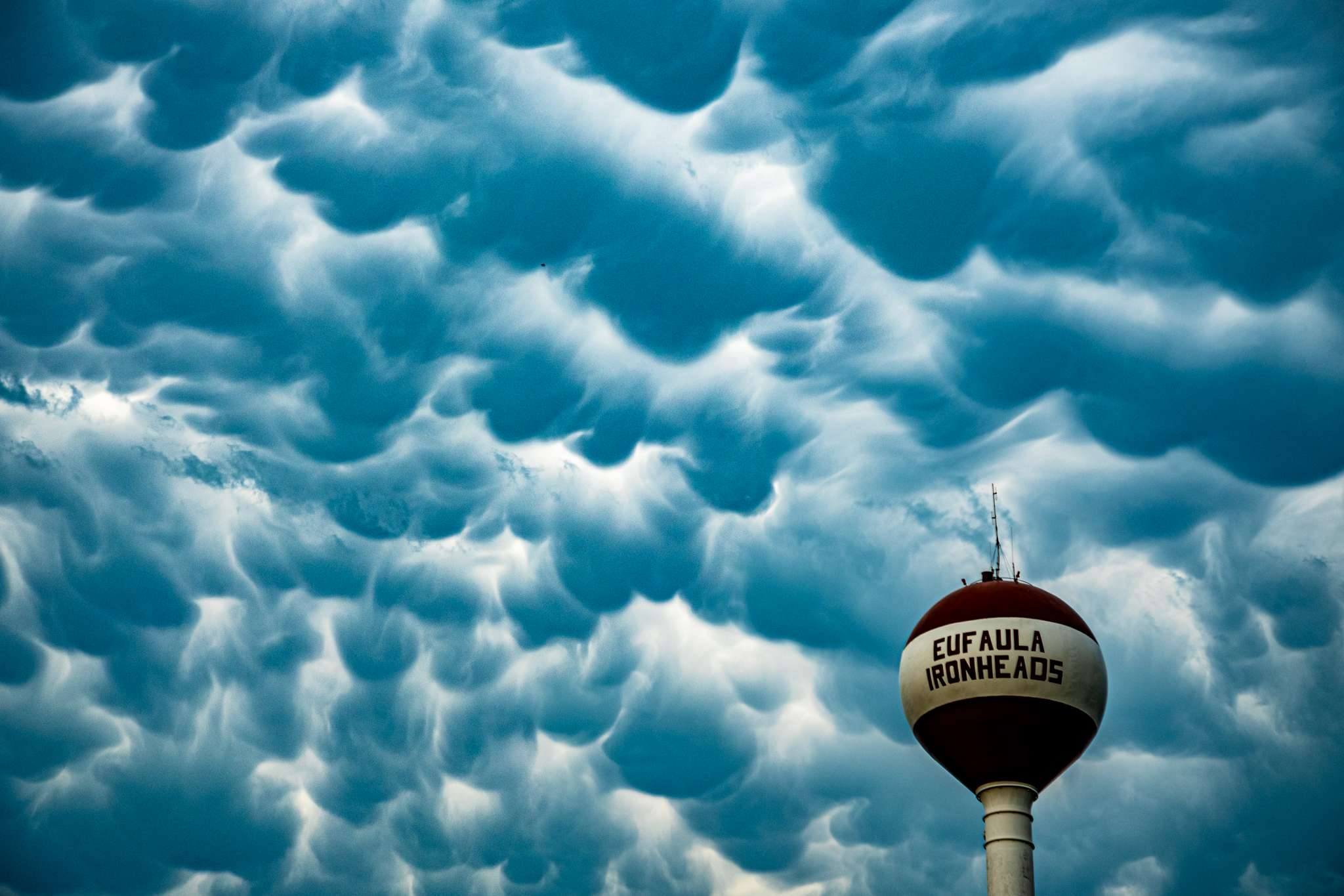 Eufaula, OK Ironheads Water Tower Storm Clouds