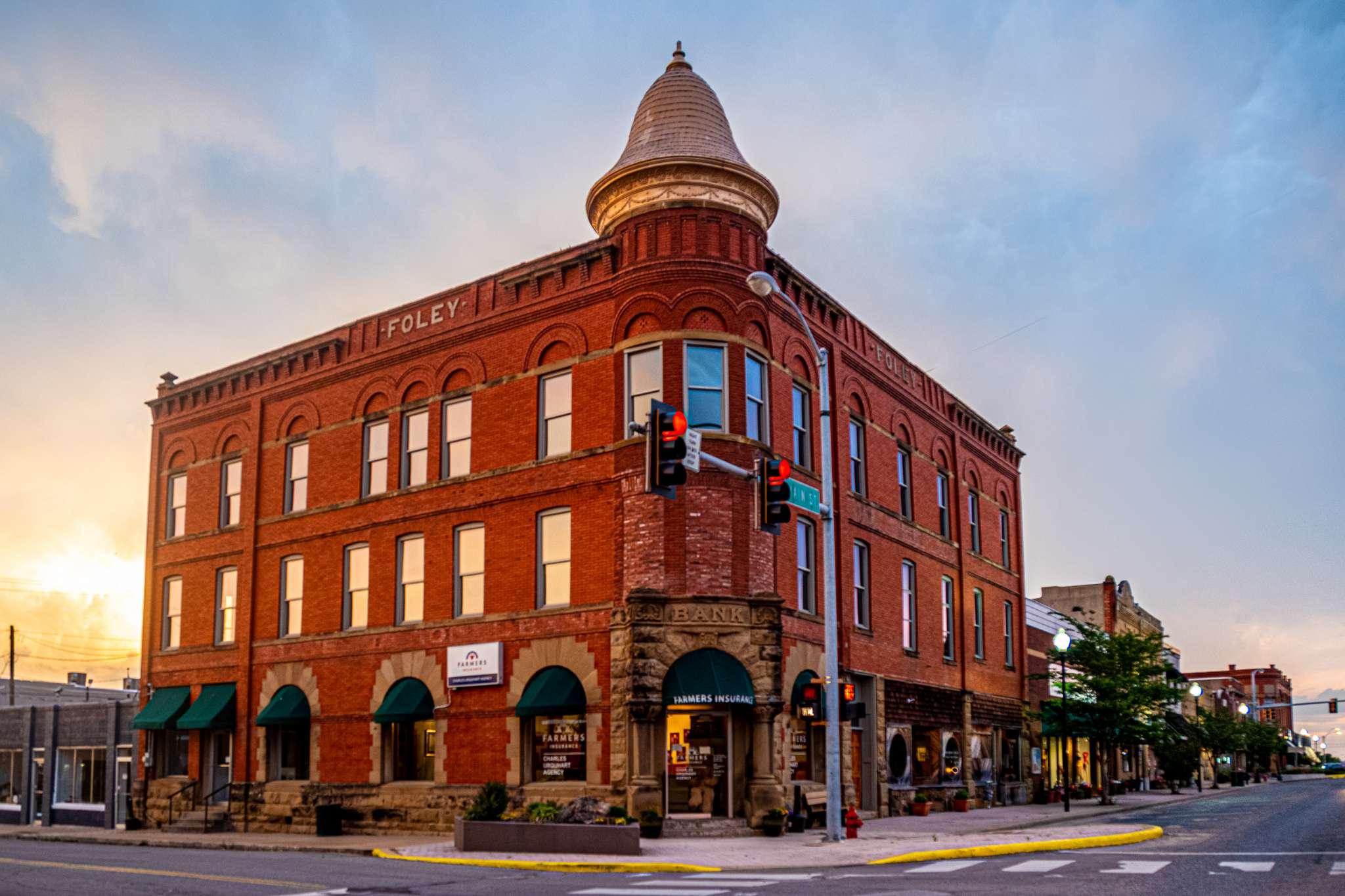 Foley Building in historic downtown Eufaula, Oklahoma