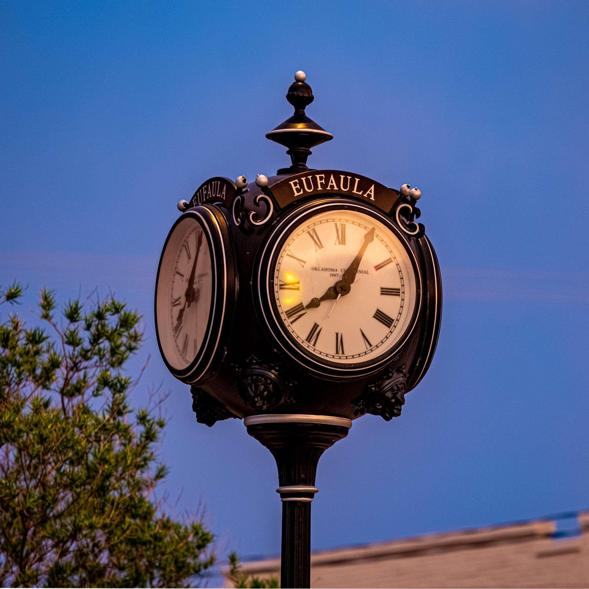 Eufaula, OK Centennial Clock