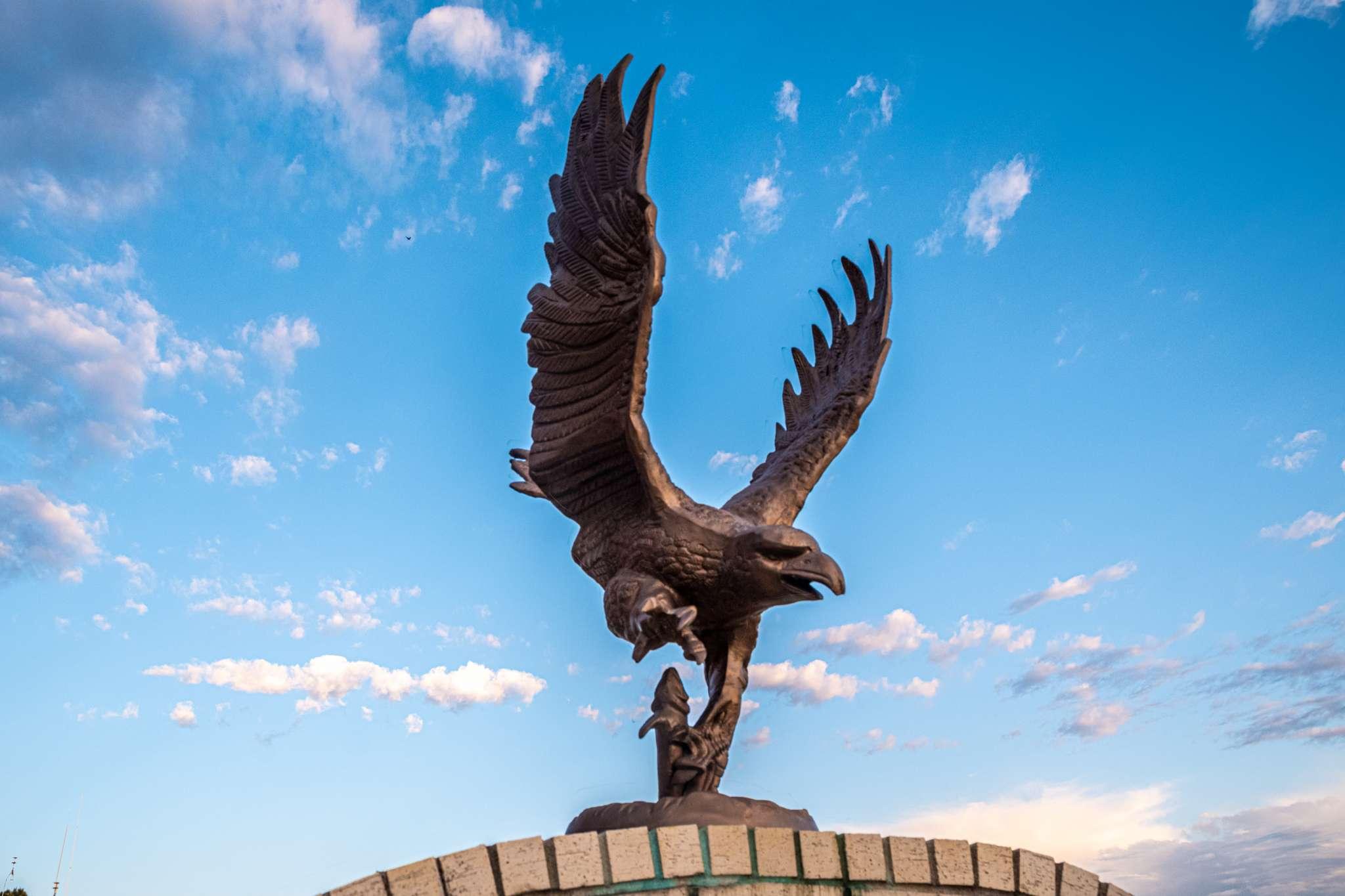 Eufaula, OK McIntosh County Courthouse Eagle