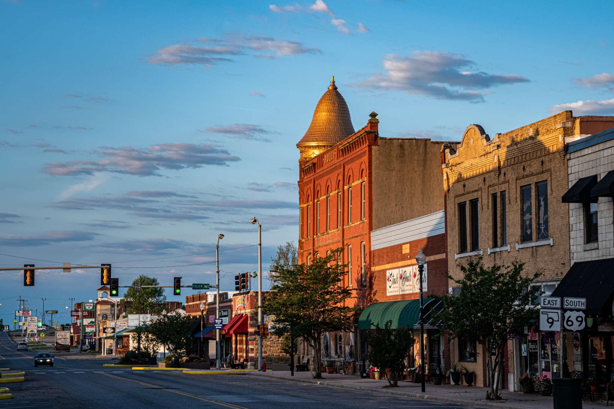 Eufaula, Oklahoma Historic Downtown Architecture Shops